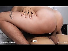 Hairless bottom rides raw dick