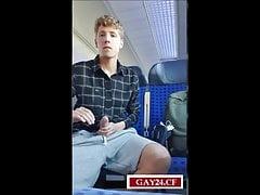 Twink Jerking in Train