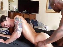 Asian Twink takes Black Cock Raw