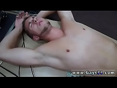 Straight up gay twink cock movie Guy finishes up with rectal romp