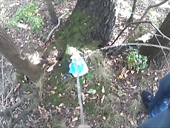 pissing together on a barbie doll in the woods COMPILATION
