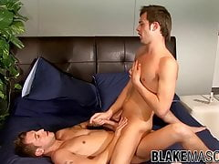 Adorable UK gay ass drilled by inked guy before big cumshot
