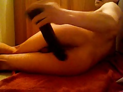 Hot boy sexy butt slams ass with huge dildo