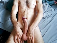 Top Solo Guy Gently Masturbates and Shows his Body, the most