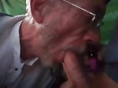 Grandpa Sucks Grandson Dry