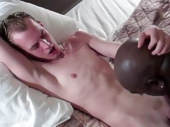 black cocksucking bitch Worships White Man