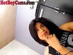 Big Puddle of Latin Twink Cum On Webcam