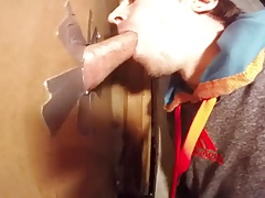 Twink takes the cum in his mouth at homemade GH again