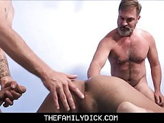 Young Twink Step Son And Latino Boy Joined By Bear Step Dad