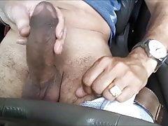 Stroking His Cock