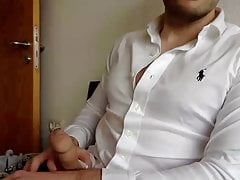 Sexy Lad wankin cock in tight Jeans and Ralph Lauren Shirt