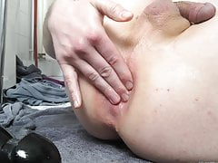 Twink Pulls Out Huge Anal Plug and Gapes 2