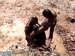 Two well trained african men have sex