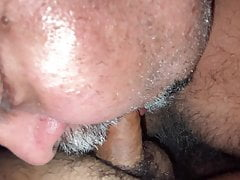 I pay a visit to my friend, he sucks my 20 year old cock