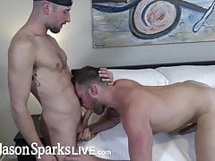 JasonSparksLive Drew Dixon fucked rough after sucking dick