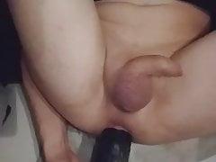Training my hole with BIG dildo.