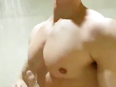 Muscle show in the shower