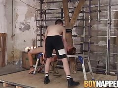 Young Galiel Swan fingered and bareback fucked during BDSM