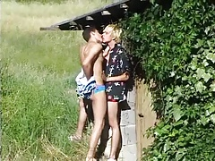 Blond Boy Outdoor Fun