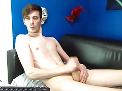 Cute skinny boy jerk off