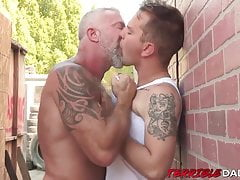 Timothy Drake mercilessly fucked by tall hung daddy cock