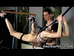 Gay string bondage Jerked And Drained Of Semen