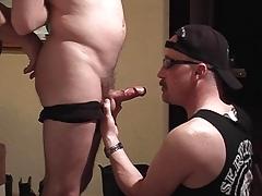 Sexy twink sucks his dick
