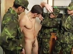 Twink Soldiers into Bareback and Piss