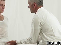 Shy young gay has his tight asshole drilled raw and rough