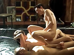 Twink gets gangbanged and covered in piss and cum