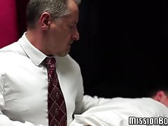 Petite Mormon twink slapped hard for being a bad boy