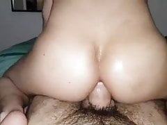 Hairy shag sticks his thick cock into me