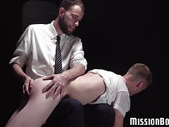 Stud plays with a twink before watching him stroke his dick