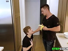 Cute Twink Bareback Fucked By His Stepdad