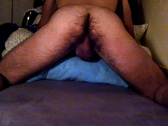 Boy fucks his blanket
