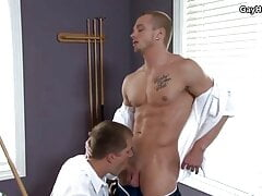 Horny guys have anal fun