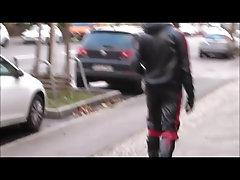 Berlin Rubber Gimp in Public