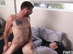 Sexy Daddy fucks his not son