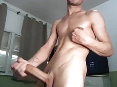 skinny guy with a huge cock