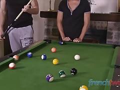 Six balls on the pool table