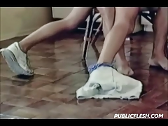 Retro Twink Gay Bare Ass Spanking