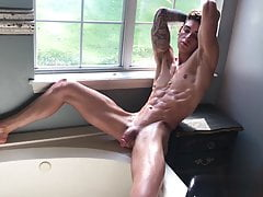 beautiful naked boy in sexy bathroom