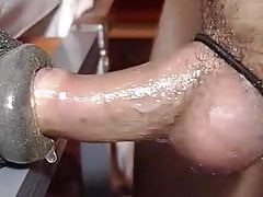 Cumming twice to homemade fleshlight! Big mess at the end :P