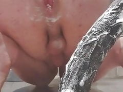 Swedish femboy gaping his creamy ass 4