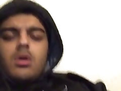 Chubby British Indian guy wanks and cums
