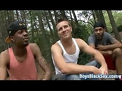 Muscular Blacg Gay Dude Fuck White Twink With His BBC 14