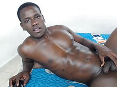 hot black boy Pharrell shoots nice load and eats cum
