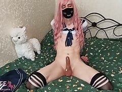 Femboy cumshot compilation - sissy, shemale, cosplay