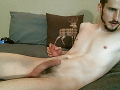 hot US college boy fucks with dildo and shoots his load